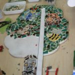Creatieve workshop kunst vriendinnen familie mozaïek Noord-Holland babyshower groeimeter
