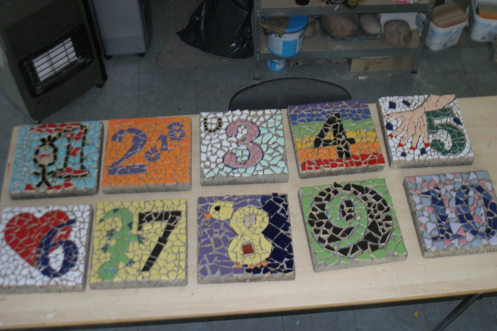 schoolplein aanpassen ideeën hinkelbaan mozaïek